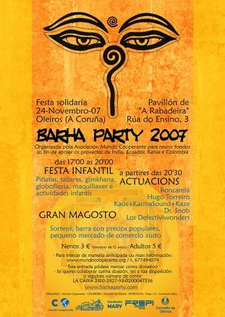 Cartel Barha Party A Coruña